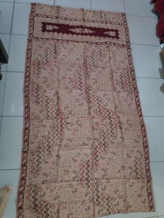 SUPER SALE!! 1 Set Kain Batik Maroon