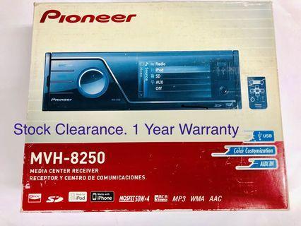 PIONEER MVH 8250BT (Free Installation)