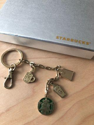 Keychains Starbucks collectibles gold charms mint condition
