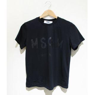 MSGM 義大利新銳品牌 黑色經典LOGO字樣短袖T恤