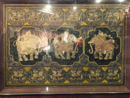 Antique Burmese Kalaga Tapestry