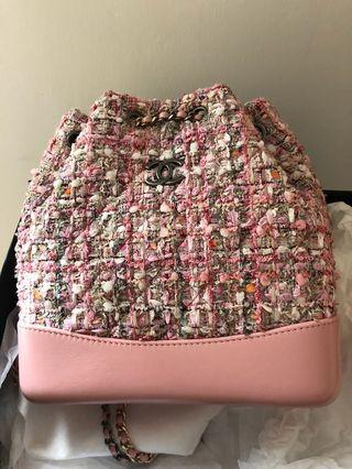 Chanel Gabrielle tweed backpack