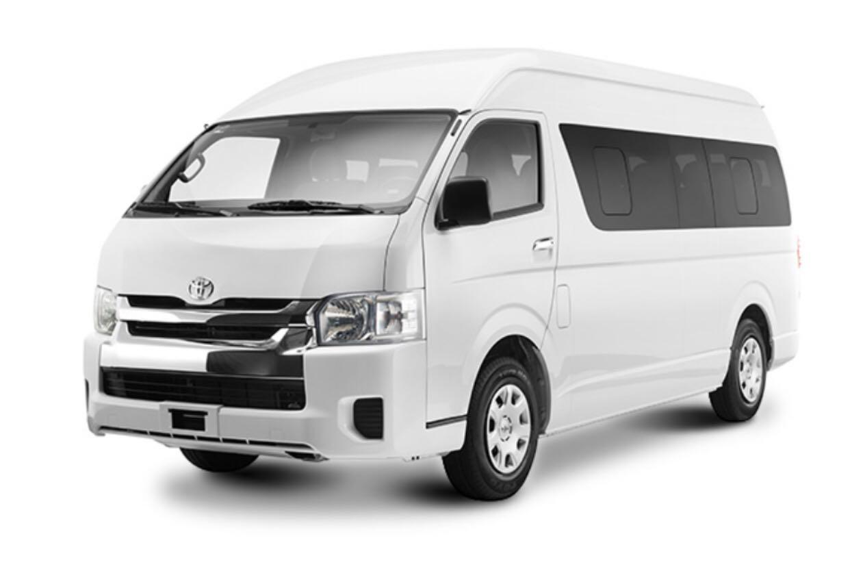 13 seater Toyota Hiace high roof van w/ driver for booking