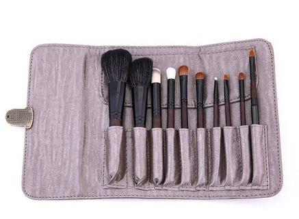 💄SALE-10pcs Pony & Goat Hair Makeup Brush/ Brushes with Holder & Pouch Set