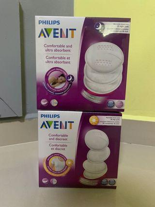 Breast milk bags and breast pads ; AVENT, Tommee Tippee, Bambino, Pigeon