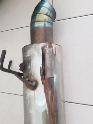 Exhaust straight flow 1.6inch inlet