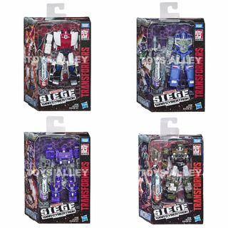 [Preorder] Transformers Siege War for Cybertron Trilogy Series Deluxe Class Wave 3 Set of 4