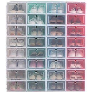 Storage Box Colourful Pp Plastic Shoes