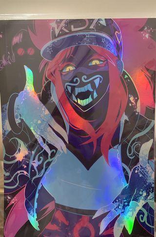 🚚 KDA Akali holographic print