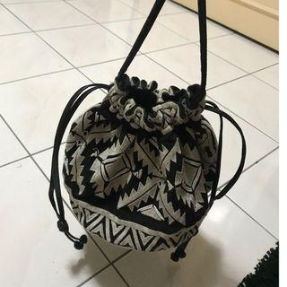H&M Embroidery Bucket Bag