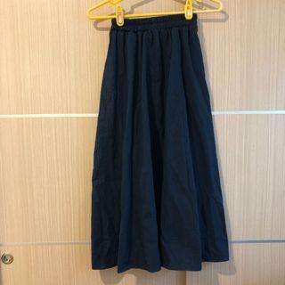 🚚 藏青色棉麻長裙