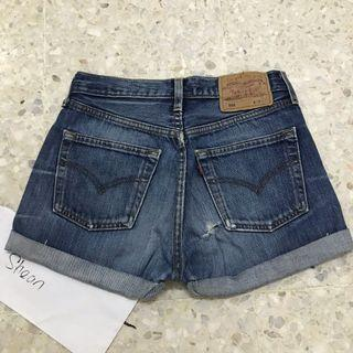 Levi's 501 Girl Peekaboo Pockets Denim Shorts