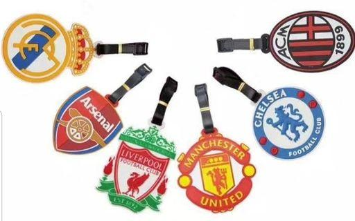 Football clubs luggage tags