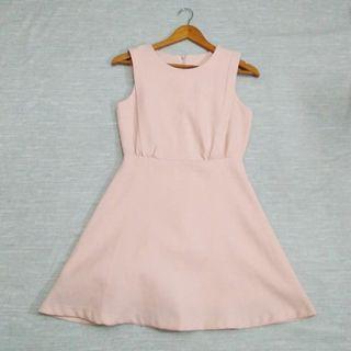 Peach/Pink Dress with Free Blazer
