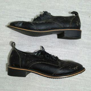 FOREVER 21 Black Synthetic Leather Oxford Shoes