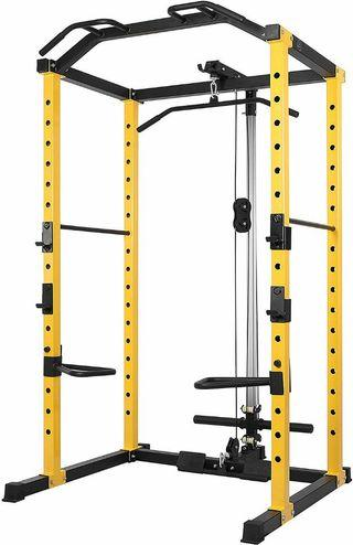 Power Full Rack Cage Squat Weightlifting Gym