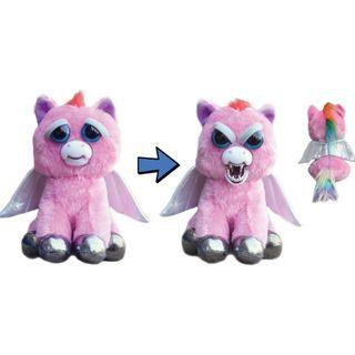 BRAND NEW Authentic Feisty Pets Animals Pegasus Sparkles Rainbowbarf Stuffed Soft Toy Angry Cute Face