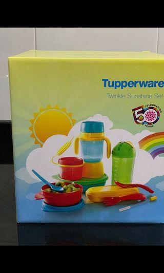 Baby/kids/toddler Tupperware twinke sunshine set