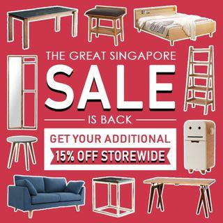 [GREAT SINGAPORE SALES] Born in Colour's Furniture Sales