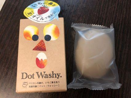 全新 日本Dot Washy草莓鼻毛孔淨化洗顏皂