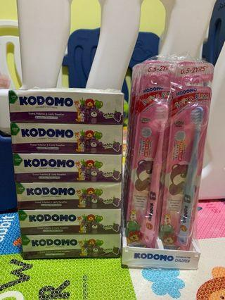 🚚 Kodomo toothpaste and tooth brush (0.5-2 years)