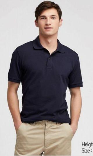 Uniqlo MEN Dry Pique Short Sleeve Polo Shirt