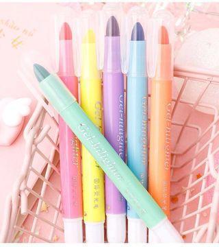 6 Gel highlighter coloring pack