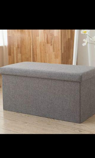 Brand New Storage Bench Fabric Material Can withstand weight of 200kg