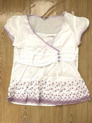 Pregnant too purple white