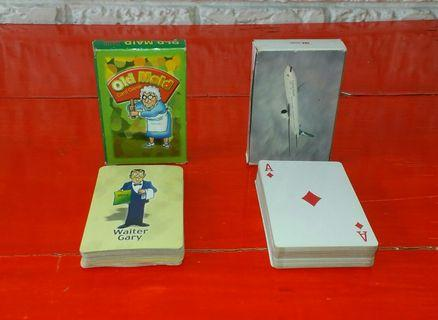 OLD MAID and CATHAY PACIFIC Playing Cards