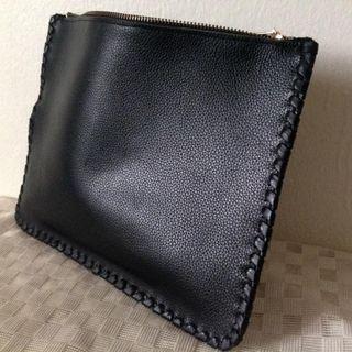 Stylish designer leather pouch bag