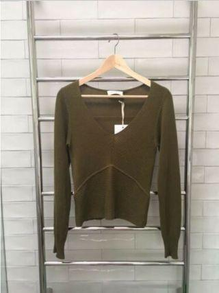 Chosen Ophelia Khaki Jumper Size M BRAND NEW RRP $159