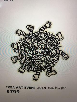 IKEA Art Event 2019 designer rug Brand New