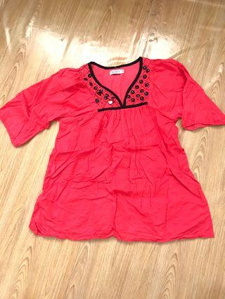 Pregnant red top (free)