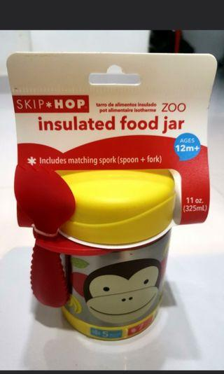 🚚 BN Skip Hop Insulated Food Jar Monkey with Spork