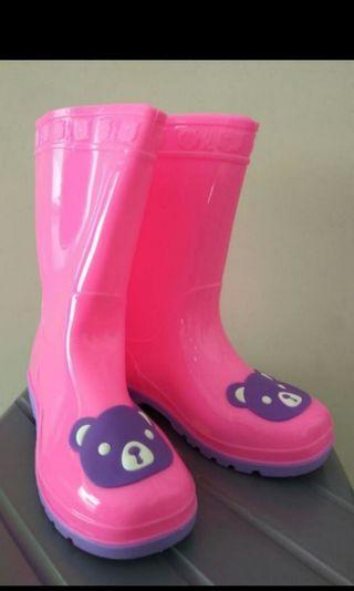 Sepatu boot pink / sepatu Hujan
