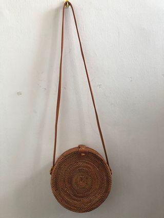 NEW - LELONG - Rattan Bag Fresh From Bali (Homemade)