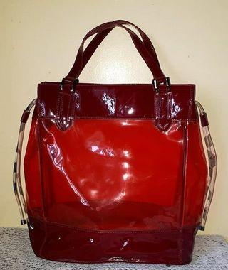 Burberry transparent tote bag