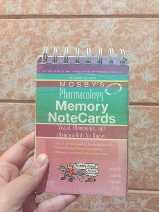 MOSBY PHARMACOLOGY MEMORY NOTE CARDS
