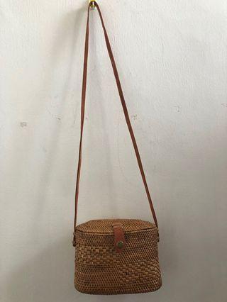NEW - LELONG- RATTAN BAG (homemade)