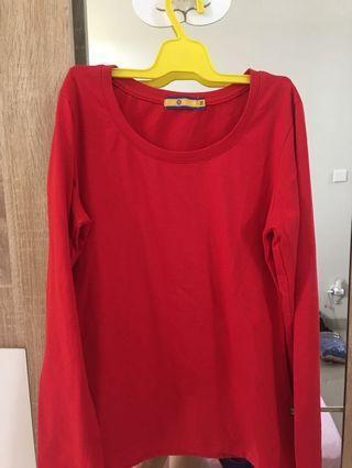 B Club Red Long sleeves