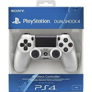 NEW Authentic With Sony Warranty Silver PlayStation 4 PS4 Wireless Controller Play Station For Console Fat Slim Pro