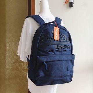 🚚 全新Superdry深藍背包premium goods backpack 後背包書包 極度乾燥