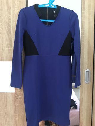 Blue Dress long sleeves