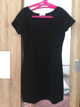 F21 black mini dress