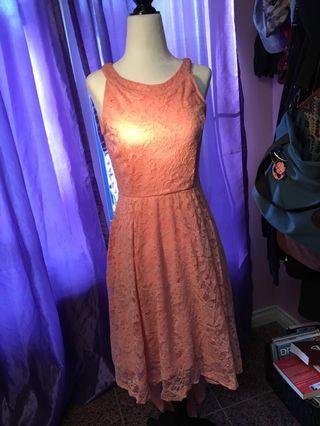 Brand new Size Small Pink Lace Dress