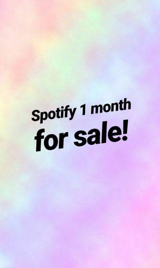 Spotify 1 month for sale! 😊❤
