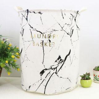 GSS !!! White OR Black Marble Design Laundry / Toy Basket Storage