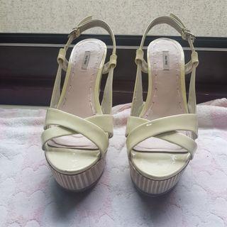 🚚 正miu miu 楔形涼鞋