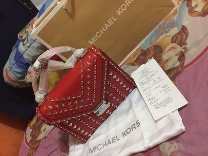 Michael Kors Whitney bright red